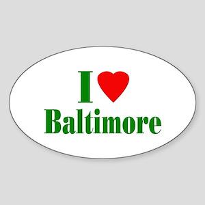 I Love Baltimore Oval Sticker