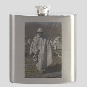 Korean War Memorial - Vertical Flask