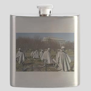 Korean War Memorial - Horizontal Flask