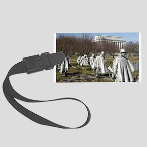Korean War Memorial - Horizontal Large Luggage
