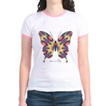 Delight Butterfly Jr. Ringer T-Shirt