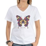 Delight Butterfly Women's V-Neck T-Shirt