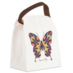 Delight Butterfly Canvas Lunch Bag