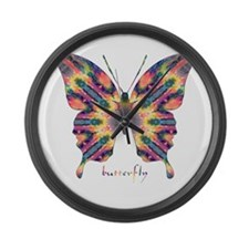 Delight Butterfly Large Wall Clock