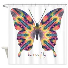 Delight Butterfly Shower Curtain