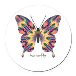 Delight Butterfly Round Car Magnet