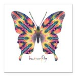 Delight Butterfly Square Car Magnet 3