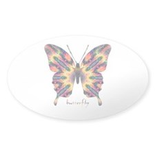 Delight Butterfly Sticker (Oval)