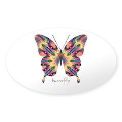 Delight Butterfly Sticker (Oval)