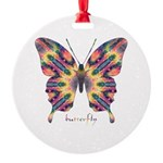 Delight Butterfly Round Ornament