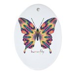 Delight Butterfly Ornament (Oval)