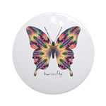 Delight Butterfly Ornament (Round)