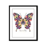 Delight Butterfly Framed Panel Print