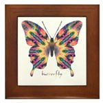 Delight Butterfly Framed Tile