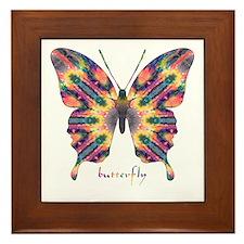 Delight Butterfly Framed Tile