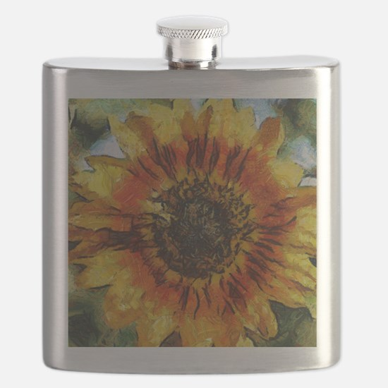 Sunflower Painting Flask