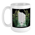 Masonic Widows column with acacia Large Mug