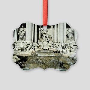 Trevi Fountain 4 Picture Ornament