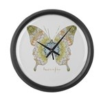 Haven Butterfly Large Wall Clock