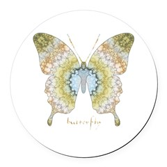 Haven Butterfly Round Car Magnet