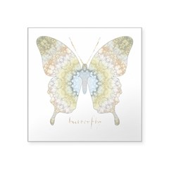 Haven Butterfly Square Sticker 3