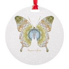 Haven Butterfly Round Ornament