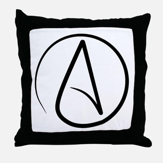 Atheist Symbol Throw Pillow