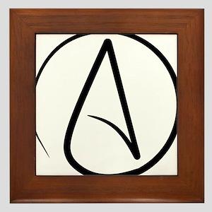 Atheist Symbol Framed Tile