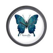Mercy Butterfly Wall Clock