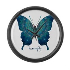 Mercy Butterfly Large Wall Clock