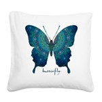 Mercy Butterfly Square Canvas Pillow