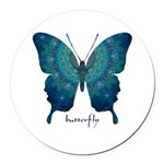 Mercy Butterfly Round Car Magnet