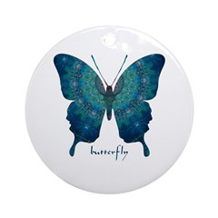 Mercy Butterfly Ornament (Round)