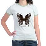 Namaste Butterfly Jr. Ringer T-Shirt