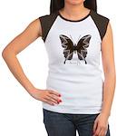 Namaste Butterfly Women's Cap Sleeve T-Shirt