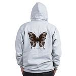 Namaste Butterfly B Zip Hoodie