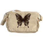 Namaste Butterfly Messenger Bag