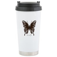 Namaste Butterfly Stainless Steel Travel Mug