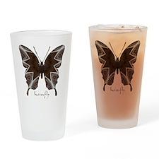 Namaste Butterfly Drinking Glass