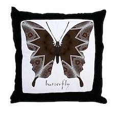 Namaste Butterfly Throw Pillow