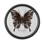 Namaste Butterfly Large Wall Clock