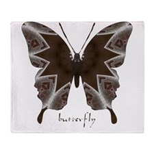 Namaste Butterfly Throw Blanket