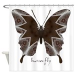 Namaste Butterfly Shower Curtain