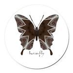 Namaste Butterfly Round Car Magnet