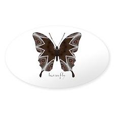 Namaste Butterfly Sticker (Oval)