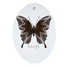 Namaste Butterfly Ornament (Oval)