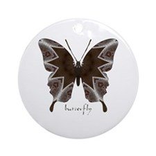 Namaste Butterfly Ornament (Round)