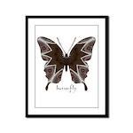Namaste Butterfly Framed Panel Print