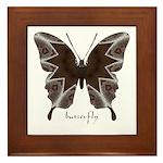 Namaste Butterfly Framed Tile