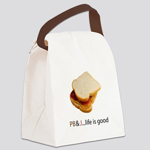 PB J Life is Good Canvas Lunch Bag